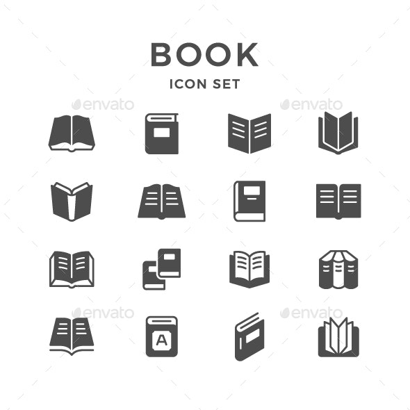 Set Icons of Book - Man-made objects Objects