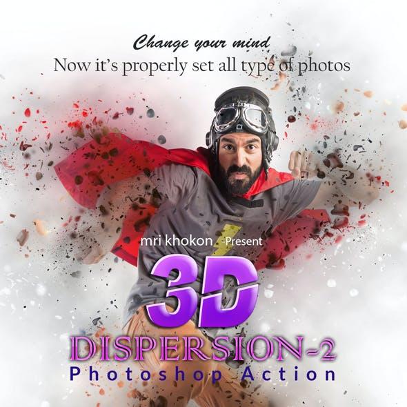 3D Dispersion Photoshop Action 2