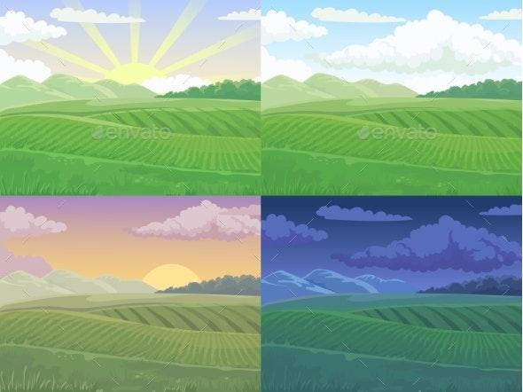 Summer Field Landscape - Landscapes Nature
