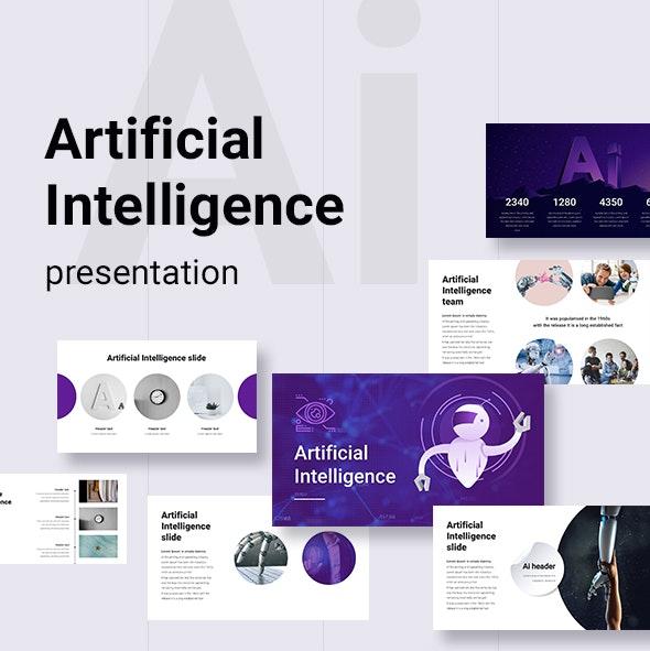 Artificial Intelligence Keynote Templete - Business Keynote Templates