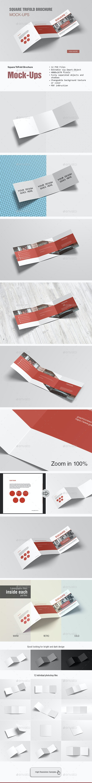Square TriFold Brochure Mockup - Brochures Print