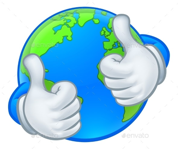 Earth Globe World Mascot Cartoon Character - Miscellaneous Characters