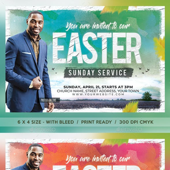Easter Sunday Church Flyer