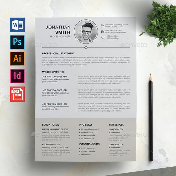 Resume Layout Graphics Designs Templates From Graphicriver