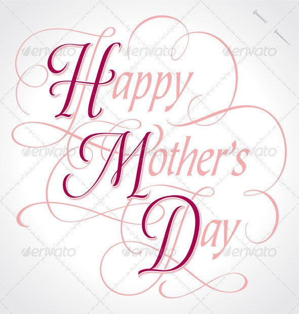 'Happy Mother's Day' Hand Lettering (vector) - Seasons/Holidays Conceptual