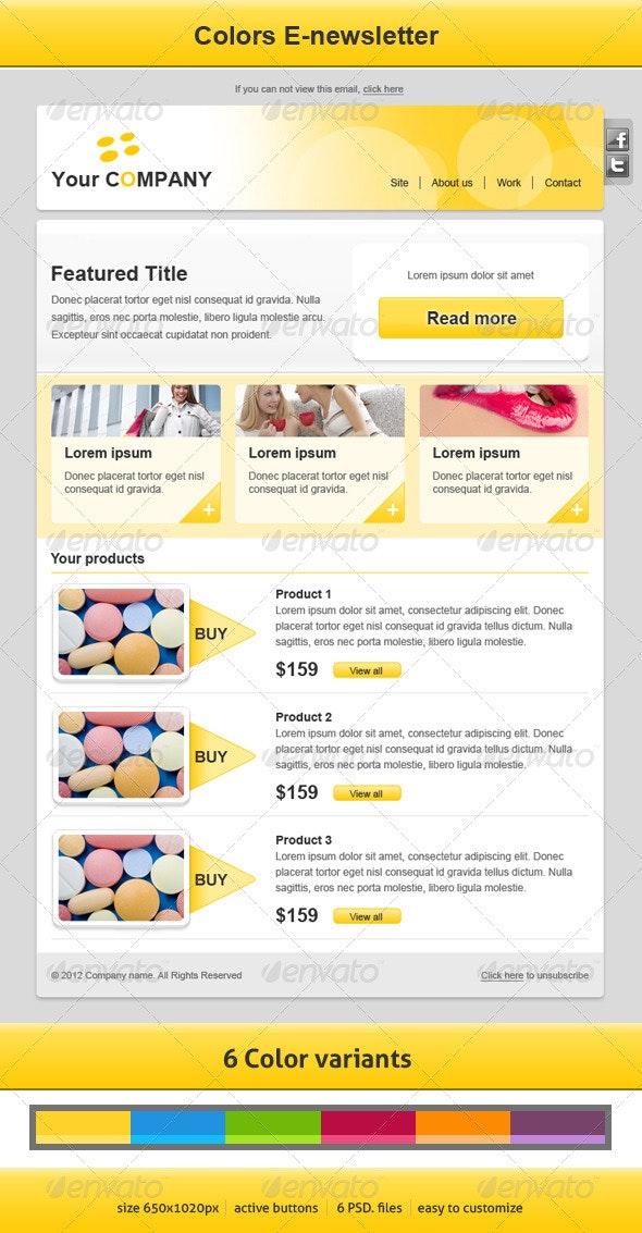 Colors E-newsletter - E-newsletters Web Elements
