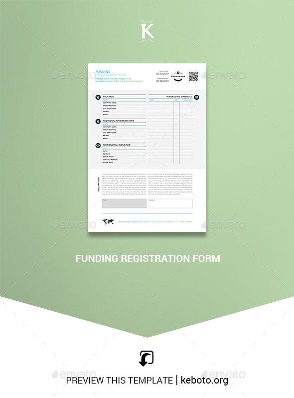Funding Registration Form - Miscellaneous Print Templates