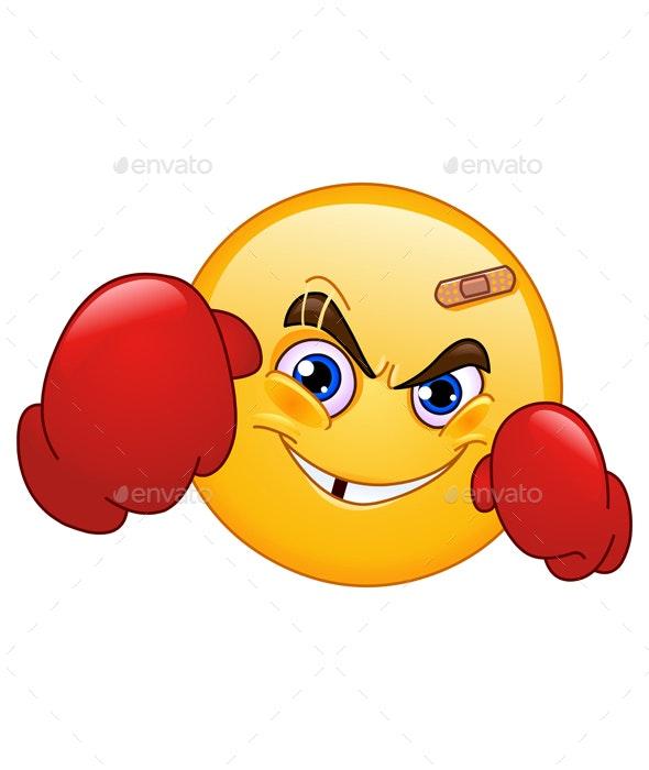 Boxer Emoticon - Sports/Activity Conceptual