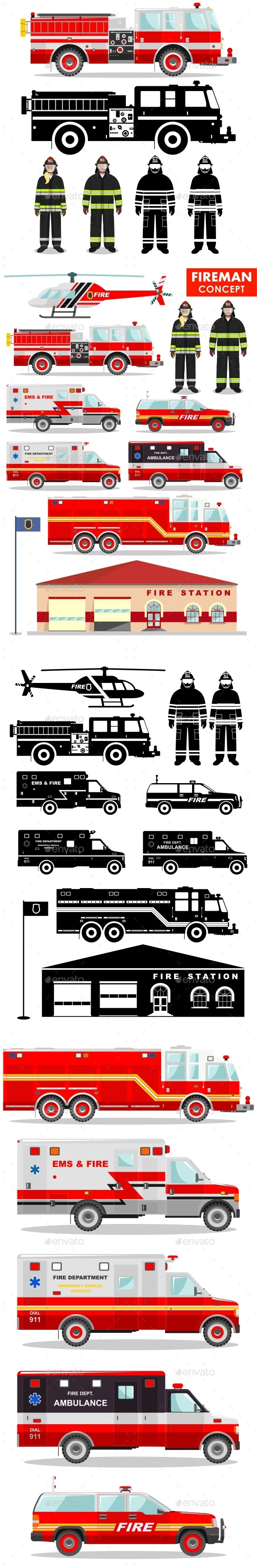 Fireman Concept - Man-made Objects Objects