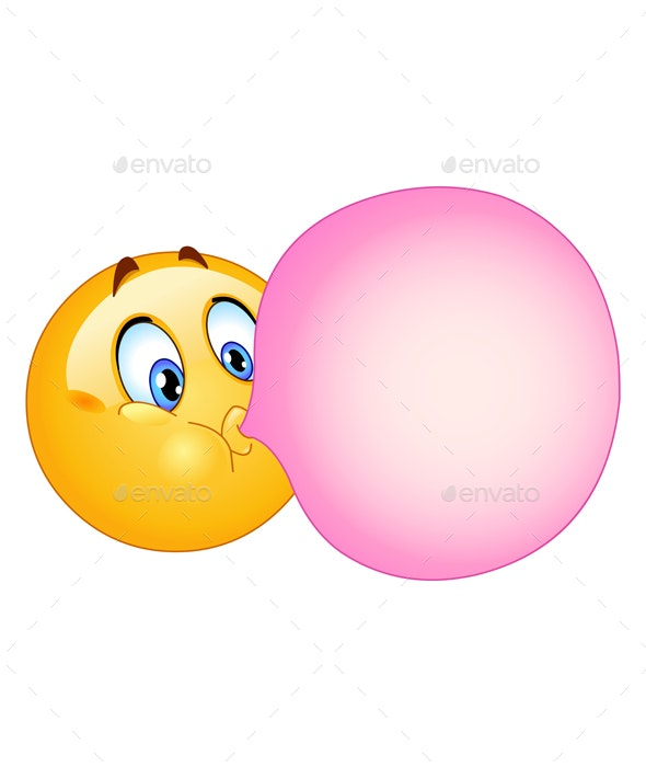 Bubble Gum Emoticon - People Characters