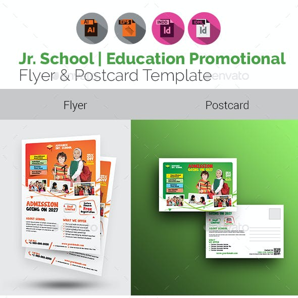Junior School Flyer with Postcard Bundle