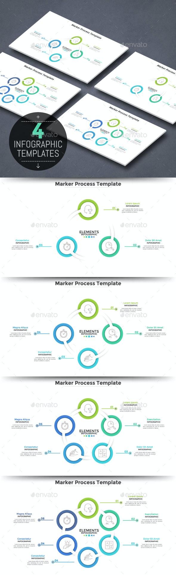 Circular Futuristic Infographic Cycles - Infographics