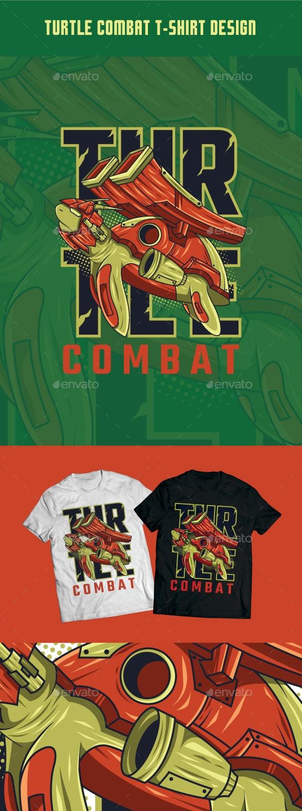 Turtle Combat T-Shirt Design - T-Shirts