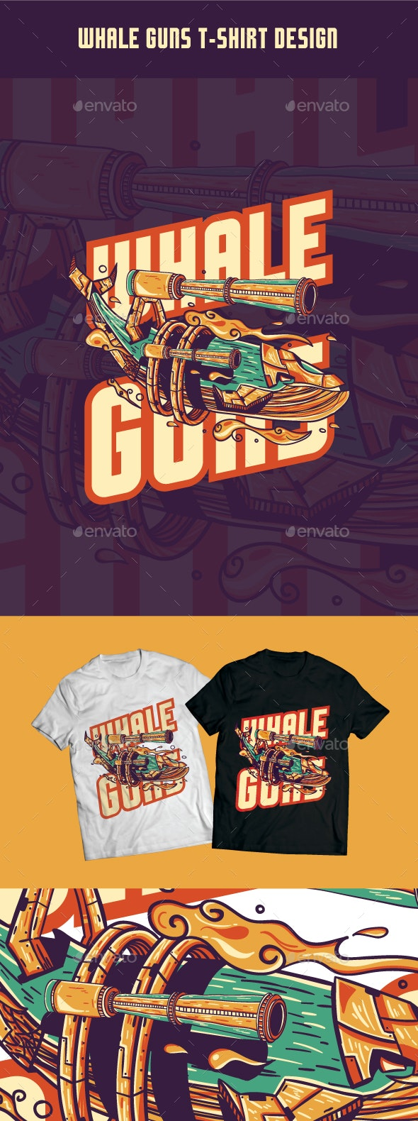 Whale Guns T-Shirt Design - T-Shirts