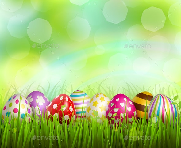 Easter Realistic Background - Miscellaneous Seasons/Holidays