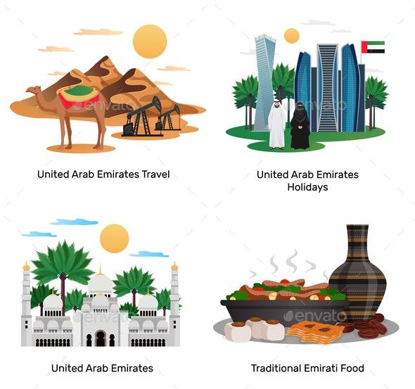 UAE Travel Concept Compositions - Travel Conceptual