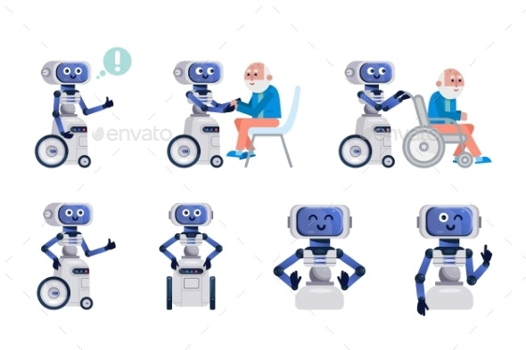 Robot Assistant Isolated - Miscellaneous Vectors