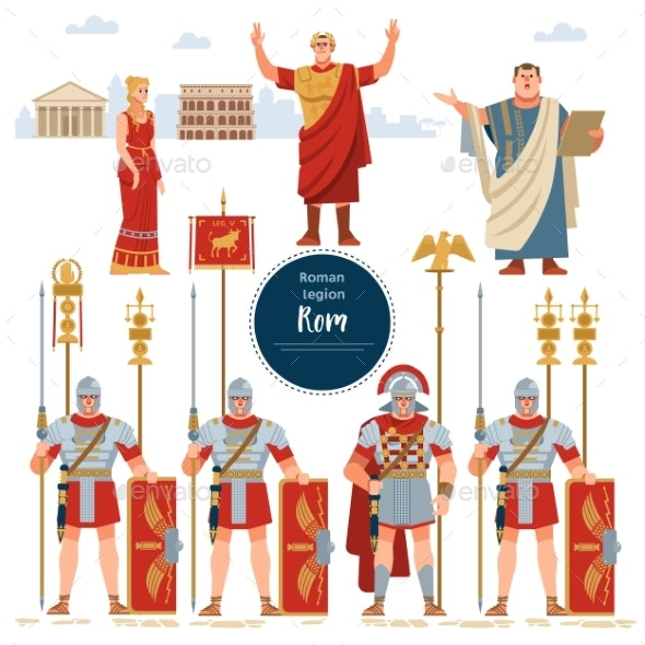 Set in Ancient Rome Illustration Historic Army - People Characters