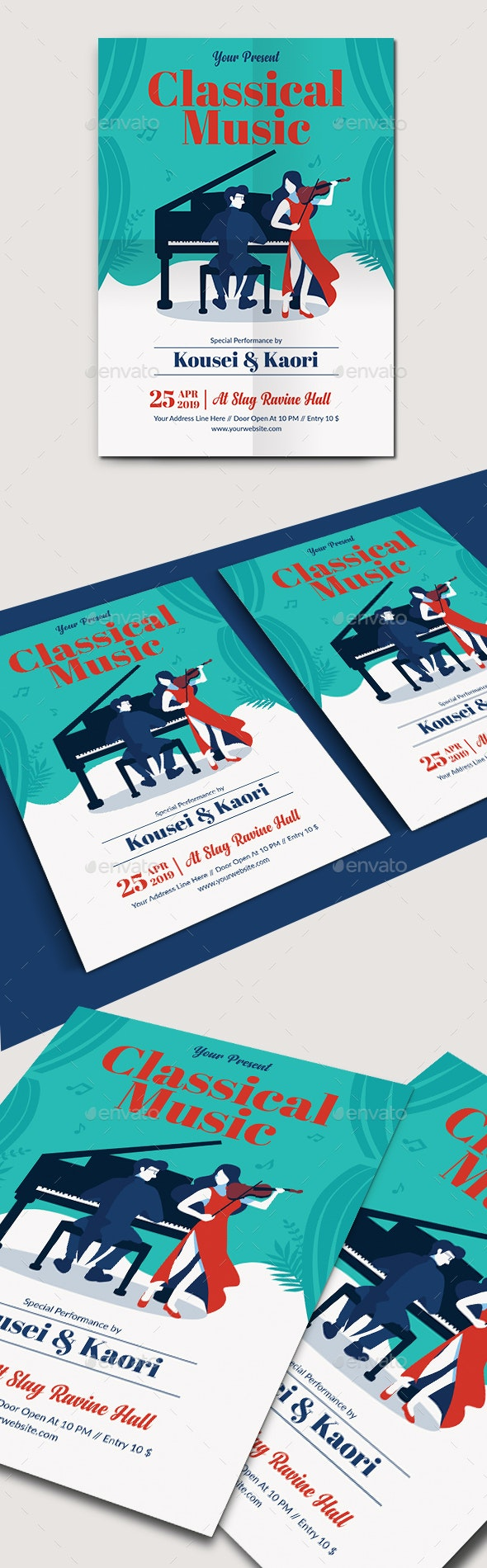 Classical Music Flyer Template - Concerts Events