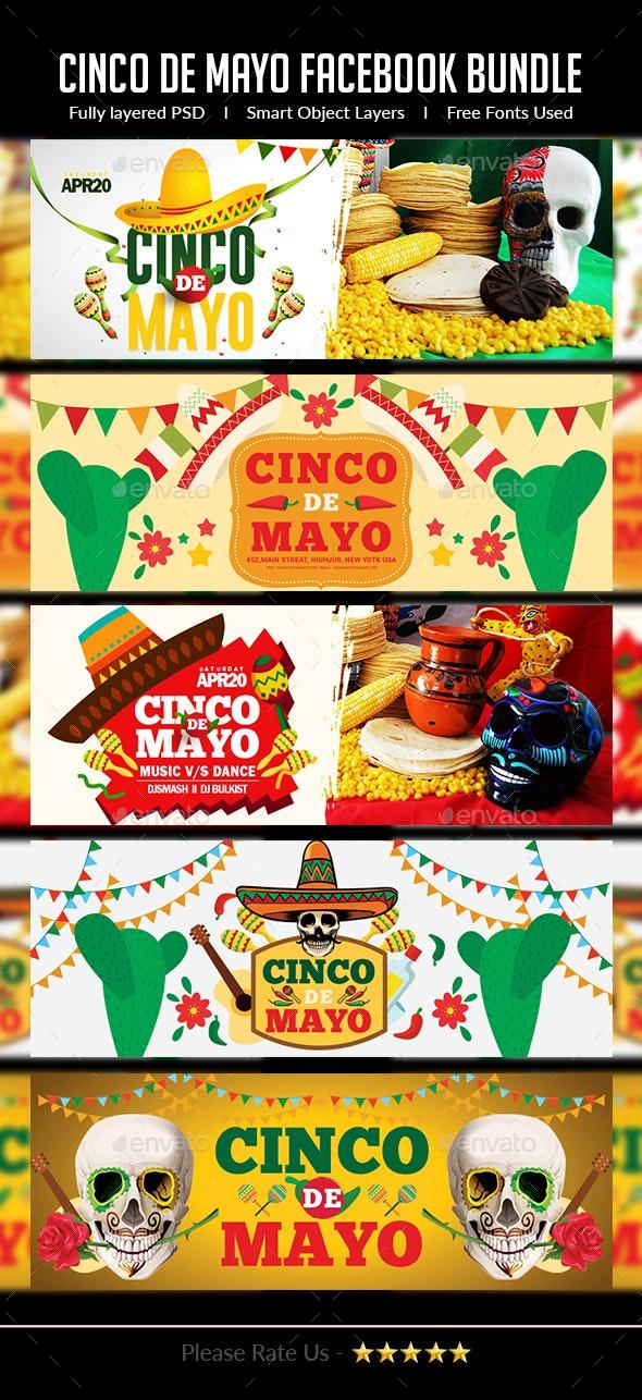 Cinco de Mayo Facebook Cover Bundle - Facebook Timeline Covers Social Media