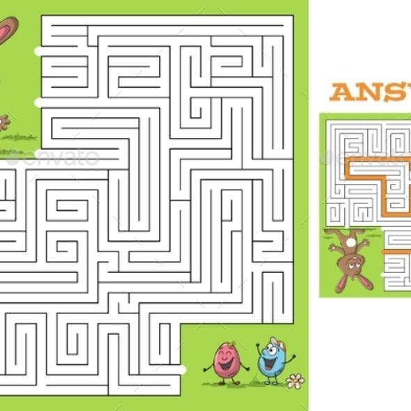 Maze Easter Puzzle