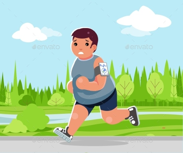 Weight Loss Outdoor Running Health Care Run Park - Sports/Activity Conceptual