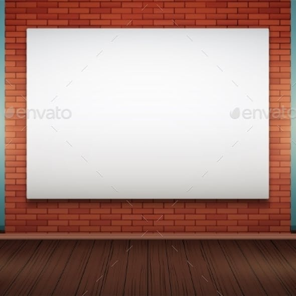 Red Brick Wall Room with Billboard