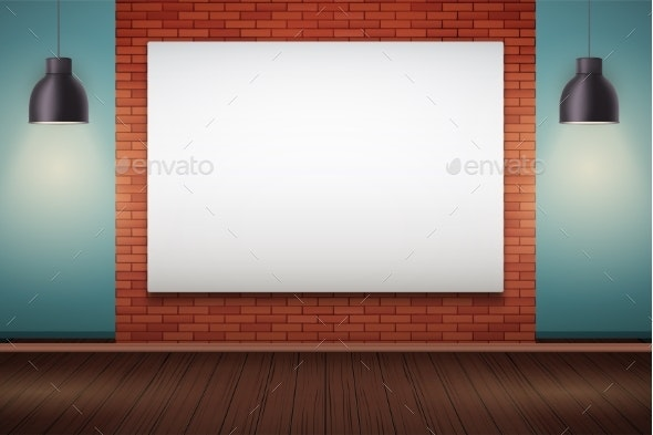 Red Brick Wall Room with Billboard - Sports/Activity Conceptual