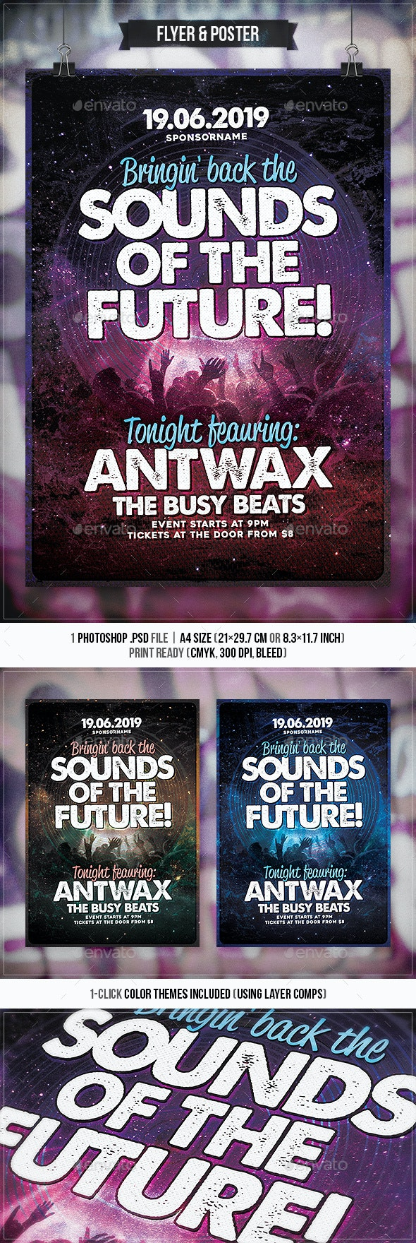 Sounds of the Future - Flyer & Poster - Concerts Events