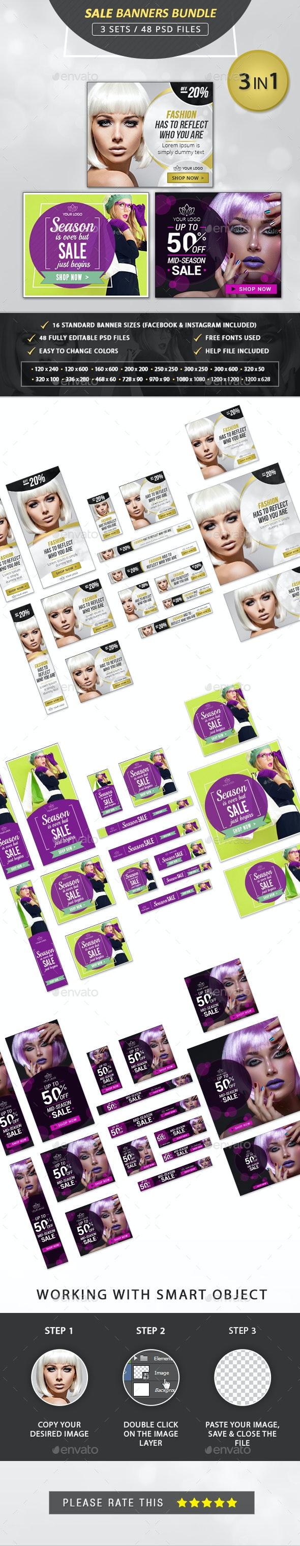 Sale Banners Bundle - Banners & Ads Web Elements