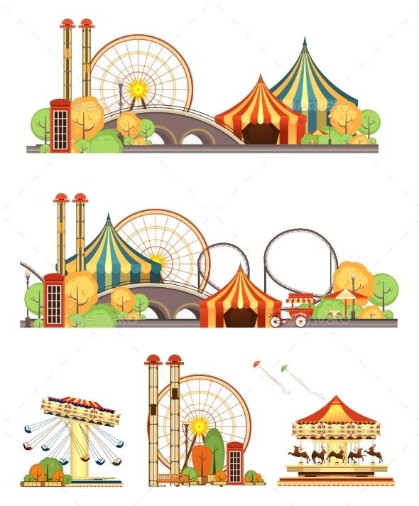 Amusement Park Circus Set - Landscapes Nature