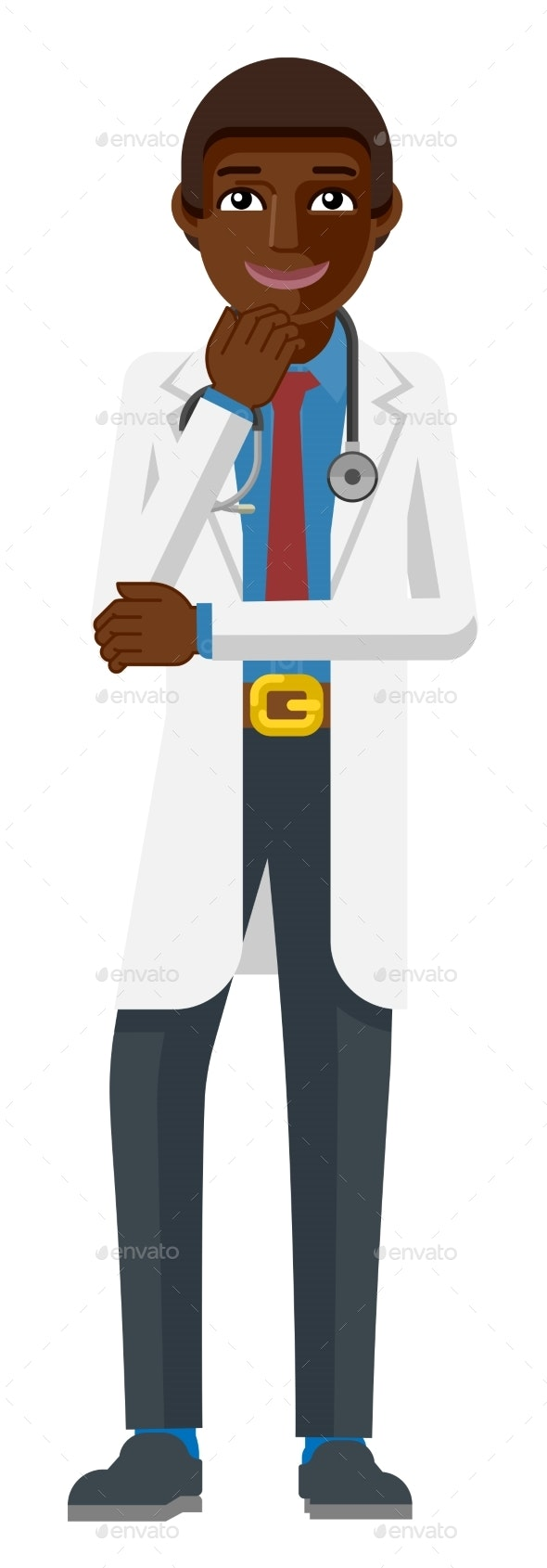 Young Medical Doctor Cartoon Mascot - People Characters