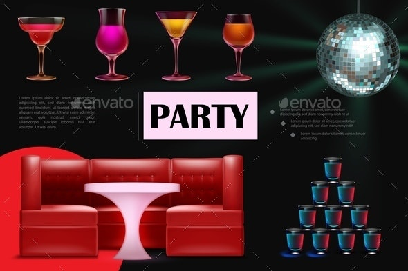 Realistic Night Dance Party Composition - Miscellaneous Vectors