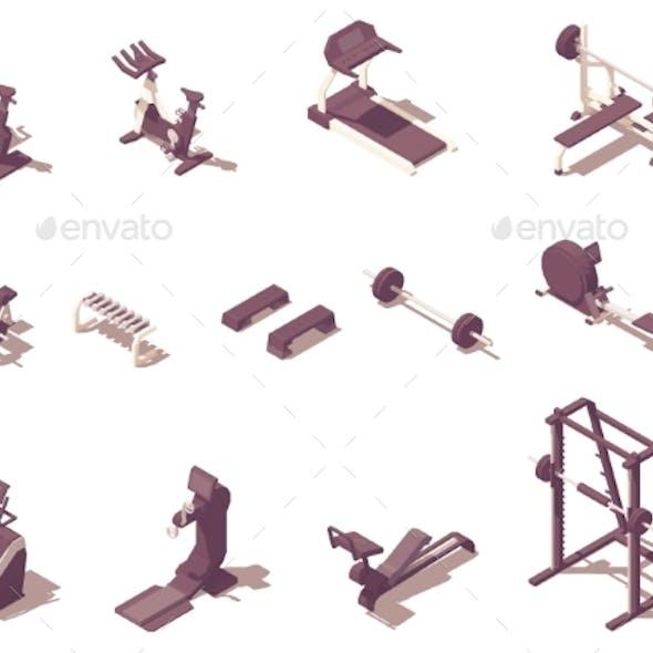 Vector Isometric Gym Exercise Machines Set