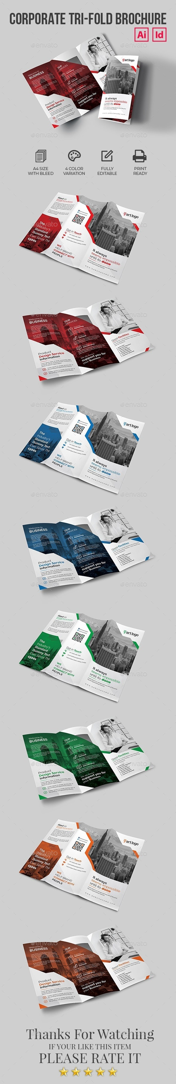 Corporate Trifold Brochure - Brochures Print Templates