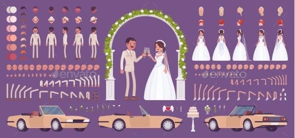 Bride and Groom on a Wedding Ceremony Creation Set - Weddings Seasons/Holidays