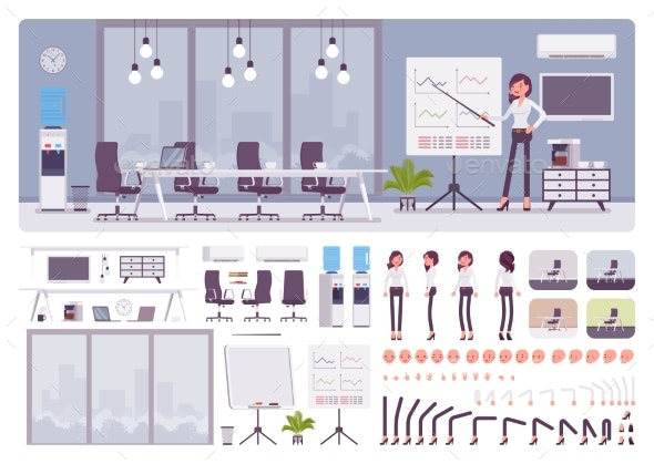 Meeting Room in Business Center Office Female - Concepts Business