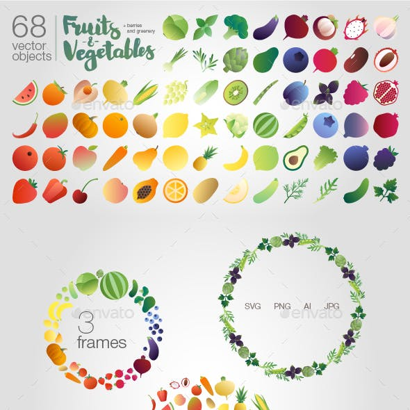 Fruits-n-vegetables (objects)