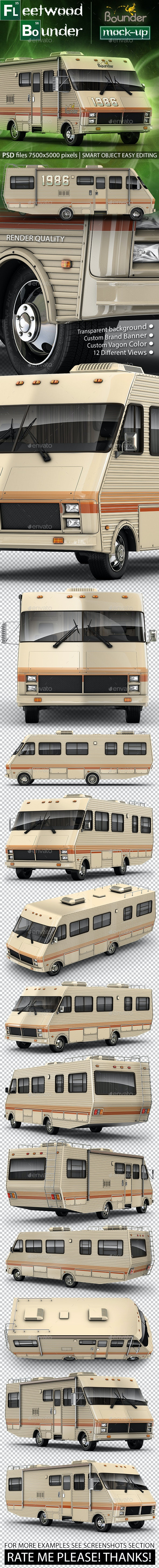 Fleetwood Bounder 1986 Mock-up from Breaking Bad - Vehicle Wraps Print