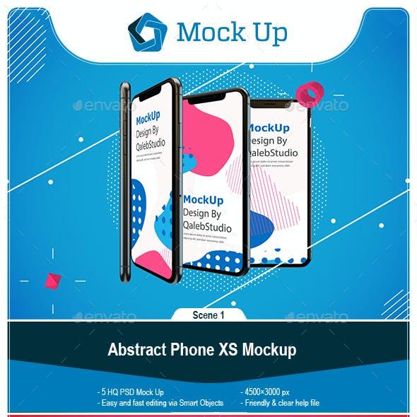 Abstract Phone XS Mockup