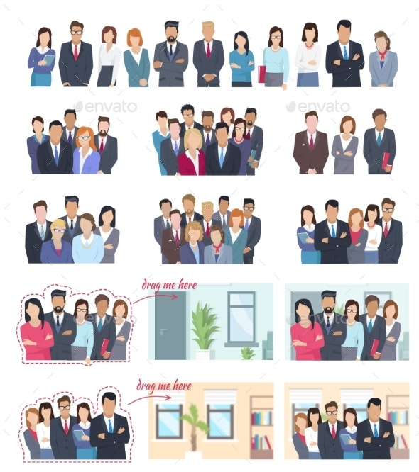 Office Employees Illustrations Collection - People Characters