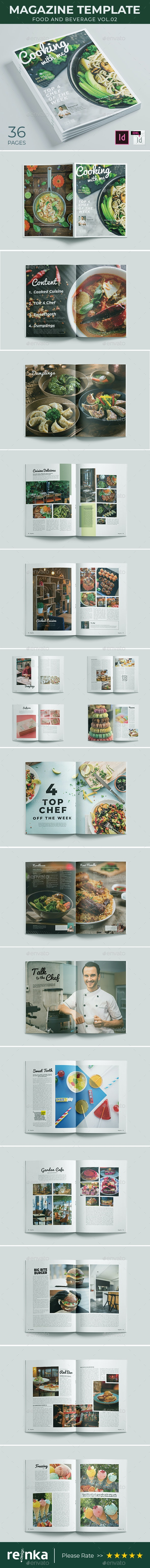 Magazine Template - Cooking with Me - Magazines Print Templates