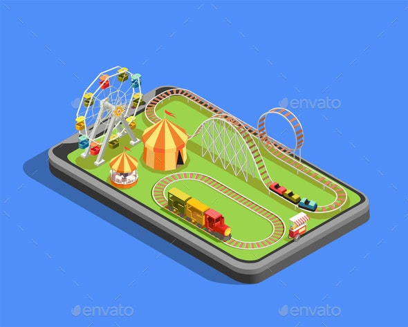 Amusement Park Composition - Miscellaneous Vectors