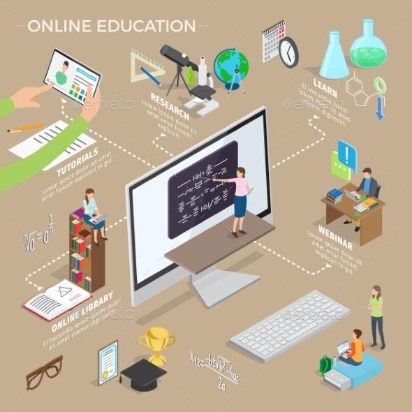 Set of Online Education - Miscellaneous Vectors