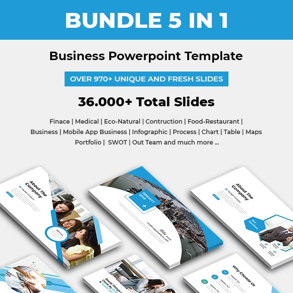 Business Bundle 5 In 1 Powerpoint Template 2019