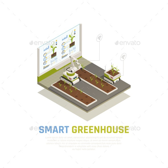 Smart Farming Concept - Food Objects