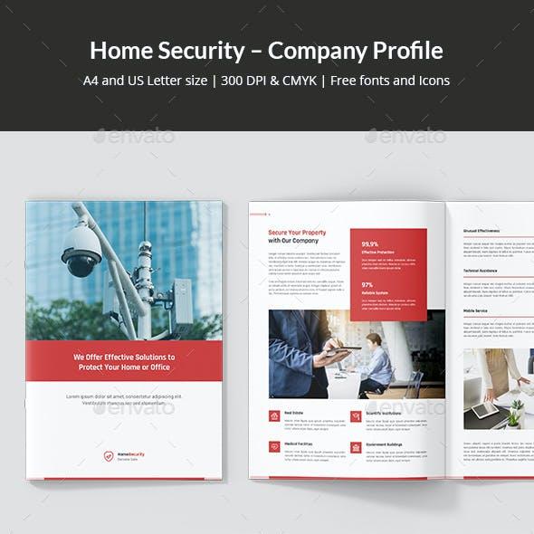 Home Security – Company Profile