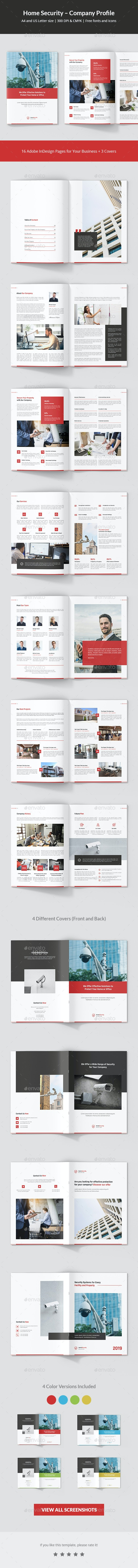 Home Security – Company Profile - Corporate Brochures