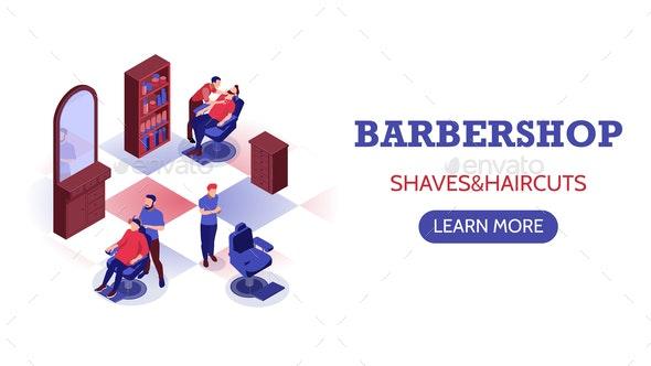 Barbershop Horizontal Banner - Industries Business