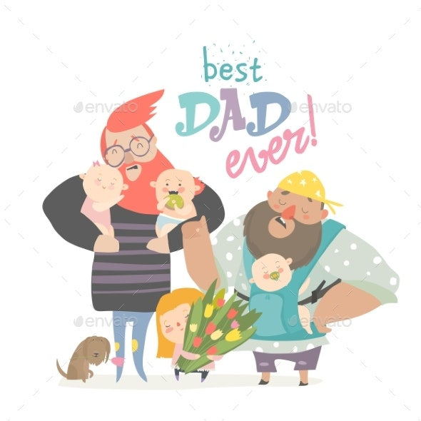 Fathers with Their Babies - People Characters
